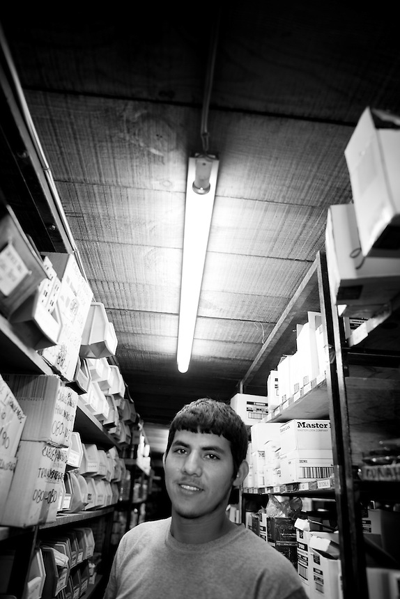 Gilberto Romero Peraza. Hardware store owners in Mazatlan, Sinaloa,  Mexico