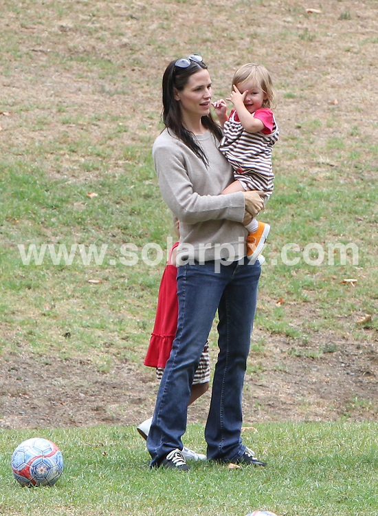 **ALL ROUND EXCLUSIVE PICTURES FROM SOLARPIX.COM**                                             **SYNDICATION RIGHTS FOR UK, AUSTRALIA, DENMARK, PORTUGAL, S. AFRICA, SPAIN & DUBAI (U.A.E) & ASIA (EXCLUDING JAPAN) ONLY**                                                                                  Caption: Jennifer Garner and her mother Patricia Ann Garner take daughters Seraphina Rose Elizabeth Affleck and Violet Anne Affleck to the park in Los Angeles, CA, USA. 2 October 2010 This pic: Jennifer Garner                                                                                       JOB REF: 12242 PHZ Candids      DATE: 02_10_2010                                                           **MUST CREDIT SOLARPIX.COM OR DOUBLE FEE WILL BE CHARGED**                                                                      **MUST AGREE FEE BEFORE ONLINE USAGE**                               **CALL US ON: +34 952 811 768 or LOW RATE FROM UK 0844 617 7637**