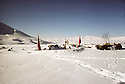 Iran 1982.A cemitery , on the road between Engawe and Kalwe, under the snow