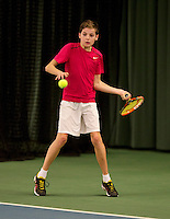 March 13, 2015, Netherlands, Rotterdam, TC Victoria, NOJK, Jort Nijdam (NED)   Nik Olyslager (NED)<br /> Photo: Tennisimages/Henk Koster