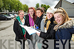 Students from Presentation Secondary School, Tralee, who sat their Leaving Certificate on Wednesday morning were l-r: Ciara Ryan, Rachel Bulman, Eimear Casey, Emily O'Brien and Carly Holden (all from Tralee).