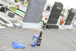 Rubbish left in St. Peters Graveyard....Photo NEWSFILE/Jenny Matthews.(Photo credit should read Jenny Matthews/NEWSFILE)....This Picture has been sent you under the condtions enclosed by:.Newsfile Ltd..The Studio,.Millmount Abbey,.Drogheda,.Co Meath..Ireland..Tel: +353(0)41-9871240.Fax: +353(0)41-9871260.GSM: +353(0)86-2500958.email: pictures@newsfile.ie.www.newsfile.ie.FTP: 193.120.102.198.