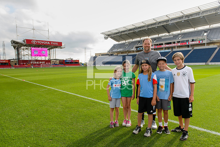 Chicago, IL - Saturday July 30, 2016: Brian Kibler prior to a regular season National Women's Soccer League (NWSL) match between the Chicago Red Stars and FC Kansas City at Toyota Park.