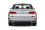 Straight rear view of 2020 Volkswagen Passat SE 4 Door Sedan Rear View  stock images