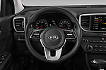 Car pictures of steering wheel view of a 2020 KIA Sportage LX 5 Door SUV