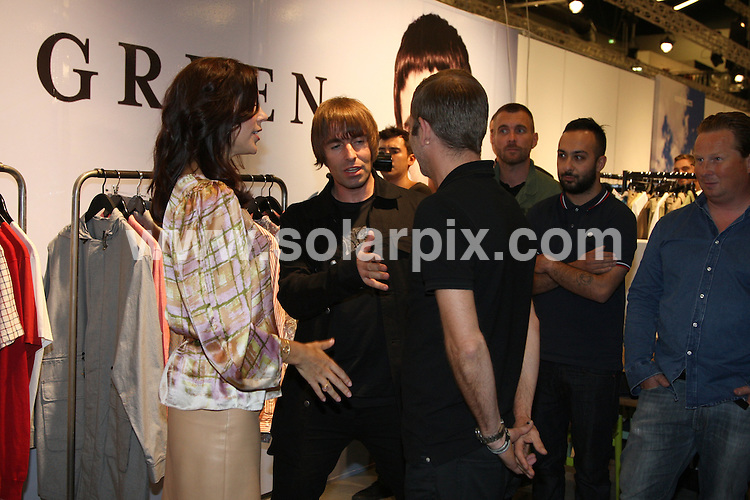 **ALL ROUND PICTURES FROM SOLARPIX.COM**.**SYNDICATION RIGHTS FOR UK AND SPAIN ONLY**.Liam Gallagher with his clothes Pretty Green talking with Crown Princess Mary during The Copenhagen Fashion Fair, Copenhagen, Denmark, 12 August 2010.This pic: Liam Gallagher and Crown Princess Mary..JOB REF: 11895         CPR        DATE: 12_08_2010.**MUST CREDIT SOLARPIX.COM OR DOUBLE FEE WILL BE CHARGED**.**MUST NOTIFY SOLARPIX OF ONLINE USAGE**.**CALL US ON: +34 952 811 768 or LOW RATE FROM UK 0844 617 7637**