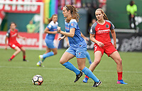 Portland, OR - Saturday April 29, 2017: Kathleen Naughton during a regular season National Women's Soccer League (NWSL) match between the Portland Thorns FC and the Chicago Red Stars at Providence Park.