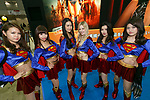 Booth assistants dressed as Supergirl pose for a photograph during the Tokyo Comic Con 2017 at Makuhari Messe International Exhibition Hall on December 1, 2017, Tokyo, Japan. This is the second year that San Diego Comic-Con International held the event in Japan. Tokyo Comic Con runs from December 1 to 3. (Photo by Rodrigo Reyes Marin/AFLO)