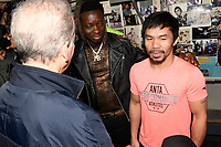 LOS ANGELES, CA - JANUARY 9:  Comedian Michael Blackson with Manny Pacquiao at the Manny Pacquiao and Adrien Broner Los Angeles Media Day, ahead of their January 19th fight in Las Vegas, at the Wild Card Boxing Club in Los Angeles, California on January 9, 2019.  <br /> CAP/MPI/DAM<br /> &copy;DAM/MPI/Capital Pictures