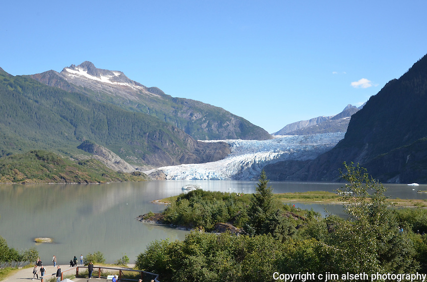 Scenes from our Alaska Inside Passage Cruise--Mendenhall Glacier.