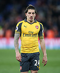 Arsenal's Hector Bellerin looks on dejected at the final whisle during the Premier League match at Selhurst Park Stadium, London. Picture date: April 10th, 2017. Pic credit should read: David Klein/Sportimage