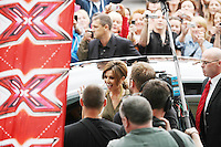 28/6/2010. The X Factor Judge Cheryl Tweedy is pictured arriving at the Dublin Convention center Spencer Dock. Picture James Horan/Collins.