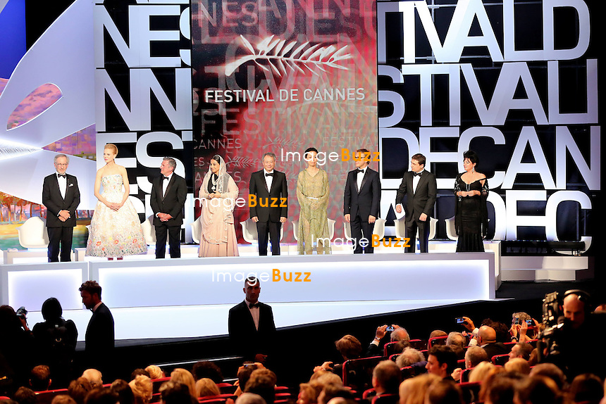 CPE/May 15, 2013-Cannes (FR)-Opening ceremony of the 66th Cannes Film Festival. On may 15th 2013. Pictured : Steven Spielberg, Nicole Kidman, Daniel Auteuil, Vidya Balan, Ang Lee, Naomi Kawase, Christoph Waltz, Cristian Mungiu & Lynne Ramsay