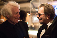 Oscar&reg;-winners Roger Deakins and Gary Oldman at the Governors Ball following the live ABC Telecast of The 90th Oscars&reg; at the Dolby&reg; Theatre in Hollywood, CA on Sunday, March 4, 2018.<br /> *Editorial Use Only*<br /> CAP/PLF/AMPAS<br /> Supplied by Capital Pictures
