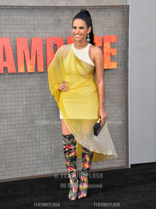 Tiffany Smith at the premiere for &quot;Rampage&quot; at the Microsoft Theatre, Los Angeles, USA 04 April 2018<br /> Picture: Paul Smith/Featureflash/SilverHub 0208 004 5359 sales@silverhubmedia.com
