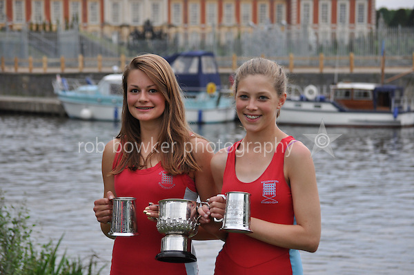 Thames Ditton Regatta. Alice Walker and Hannah Whelan. winners WJ15 2X