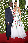 NEW YORK, NY - JUNE 11:  Taye Diggs and Amanza Smith Brown attend the 71st Annual Tony Awards at Radio City Music Hall on June 11, 2017 in New York City.  (Photo by Walter McBride/WireImage)