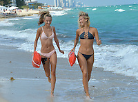 www.acepixs.com<br /> <br /> February 7 2017, Miami, Fl<br /> <br /> Models Selena Weber (R) and Lauren Ashley enjoy some winter sun on the beach on February 7 2017 in Miami Beach, Fl<br /> <br /> By Line: Solar/ACE Pictures<br /> <br /> ACE Pictures Inc<br /> Tel: 6467670430<br /> Email: info@acepixs.com<br /> www.acepixs.com