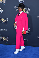 Janelle Monae at the premiere for &quot;A Wrinkle in Time&quot; at the El Capitan Theatre, Los Angeles, USA 26 Feb. 2018<br /> Picture: Paul Smith/Featureflash/SilverHub 0208 004 5359 sales@silverhubmedia.com