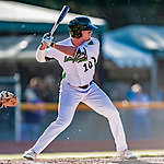 19 June 2018: Vermont Lake Monsters outfielder Anthony Churlin in action against the Connecticut Tigers at Centennial Field in Burlington, Vermont. The Lake Monsters defeated the Tigers 5-4 in the conclusion of a rain-postponed Lake Monsters Opening Day game started June 18. Mandatory Credit: Ed Wolfstein Photo *** RAW (NEF) Image File Available ***