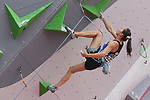 Akiyo Noguchi (JPN), <br /> AUGUST 25, 2018 - Sport Climbing : <br /> Women's Combined Qualification Lead <br /> at Jakabaring Sport Center Sport Climbing <br /> during the 2018 Jakarta Palembang Asian Games <br /> in Palembang, Indonesia. <br /> (Photo by Yohei Osada/AFLO SPORT)