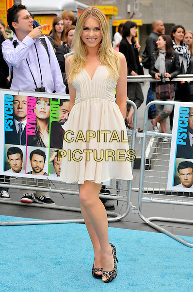 "ZOE SALMON.""Horrible Bosses"" UK Premiere, BFI, London, England..20th July 2011.full length dress black shoes white.CAP/CAS.©Bob Cass/Capital Pictures."