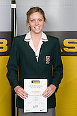 Girls Swimming winner Jessie Blundell from Westlake Girls High School. ASB College Sport Young Sportperson of the Year Awards 2008 held at Eden Park, Auckland, on Thursday November 13th, 2008.