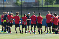 Philadelphia, PA - June 9, 2016: The USMNT train in preparation for their match versus Paraguay at Rhodes Field on the campus of University of Pennsylvania.