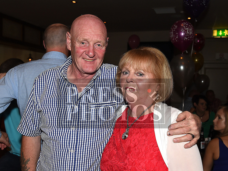 Ena Holmes celebrating her 70th birthday in the Thatch with her brother Noel McGuirk. Photo:Colin Bell/pressphotos.ie