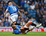 Madjid Bougherra in agony with an ankle knock