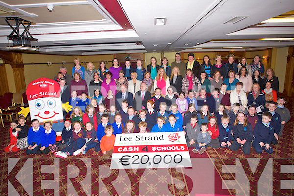 Lee Strand presented ?20,000 to Kerry schools as part of their cash 4 Schools giveaway at Meadowlands Hotel on Friday.