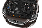 Car Stock 2015 Mazda Mazda 6 Skycruse 5 Door Wagon Engine high angle detail view