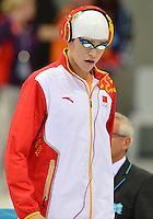 August 04, 2012..Yang Sun arrives to compete in Men.s 1500m Freestyle Final at the Aquatics Center on day eight of 2012 Olympic Games in London, United Kingdom.