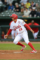 Peoria Chiefs shortstop Alex Mejia #28 during a game against the Wisconsin Timber Rattlers on May 25, 2013 at Dozer Park in Peoria, Illinois.  Peoria defeated Wisconsin 6-0.  (Mike Janes/Four Seam Images)