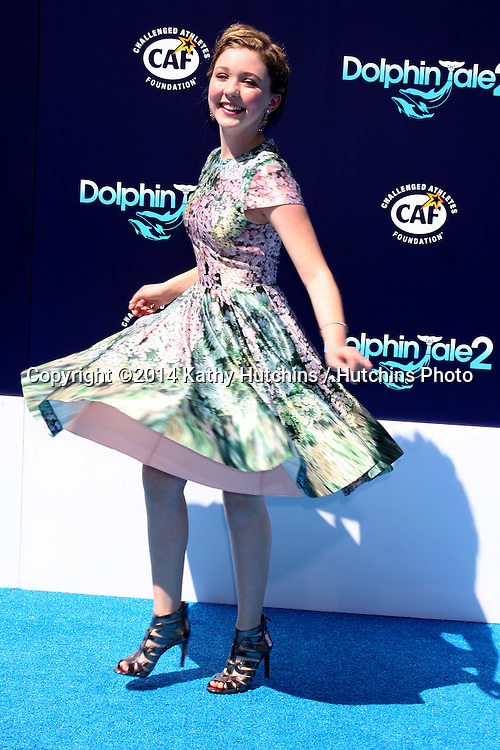"LOS ANGELES - SEP 7:  Cozi Zuehlsdorff at the ""Dolphin Tale 2"" Prmiere at Village Theater on September 7, 2014 in Westwood, CA"