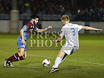 Drogheda United Adam Wixted UCD Liam Scales. Photo:Colin Bell/pressphotos.ie