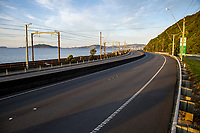 Traffic on the SH2 urban motorway at 7am during the national lockdown for COVID-19 pandemic in Petone, New Zealand on Monday, 6 April 2020. Photo: Dave Lintott / lintottphoto.co.nz