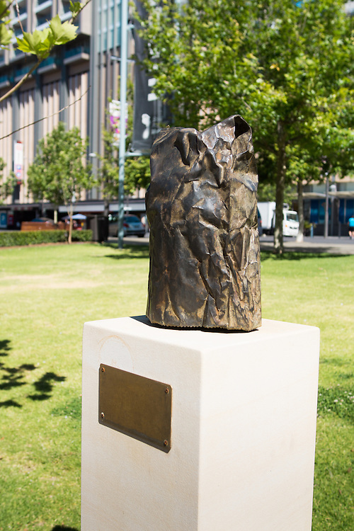 Brown Paper Bag Sculpture by Michelle Nikou. North tce Adelaide