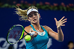 Coco Vandeweghe of United States hits a return during the singles semi final match of the WTA Elite Trophy Zhuhai 2017 against Ashleigh Barty of Australia at Hengqin Tennis Center on November  04, 2017 in Zhuhai, China. Photo by Yu Chun Christopher Wong / Power Sport Images