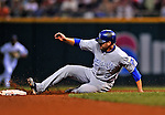 13 September 2008: Kansas City Royals' outfielder David DeJesus in action against the Cleveland Indians at Progressive Field in Cleveland, Ohio. The Royals defeated the Indians 8-4 in the second game, sweeping their double-header...Mandatory Photo Credit: Ed Wolfstein Photo