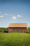 Huron County, OH. Old red barn.