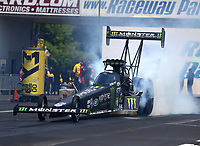 Jun 11, 2017; Englishtown , NJ, USA; NHRA top fuel driver Brittany Force during the Summernationals at Old Bridge Township Raceway Park. Mandatory Credit: Mark J. Rebilas-USA TODAY Sports