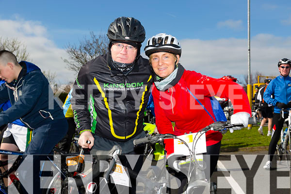 At the St Brendan's NS FENIT Coastal Cycle on Saturday were Martin Hoban and Charlotte Doyle