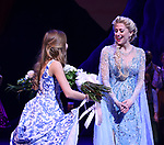 Caissie Levy during the Broadway Musical Opening Night Curtain Call for 'Frozen' at the St. James Theatre on March 22, 2018 in New York City.