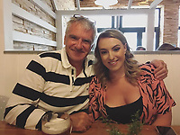 Pictured: Bethan James (R) with her father Steve<br /> Re: The daughter of former England test cricketer has died aged 21, after a suspected case of sepsis. <br /> Ex-Glamorgan captain Steve James, 52, who now works as a sports journalist was away covering a Six Nations rugby match in Ireland when his daughter Bethan was taken ill.