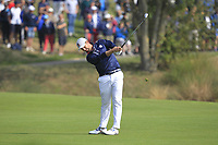 Webb Simpson (Team USA) on the 1st fairway during the Friday Foursomes at the Ryder Cup, Le Golf National, Ile-de-France, France. 28/09/2018.<br /> Picture Thos Caffrey / Golffile.ie<br /> <br /> All photo usage must carry mandatory copyright credit (© Golffile | Thos Caffrey)