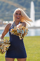 Pitt dance team member performs before the game. The Akron Zips Defeated the Pitt Panthers 21-10 at Heinz Field, Pittsburgh. Pennsylvania on September 27, 2014.