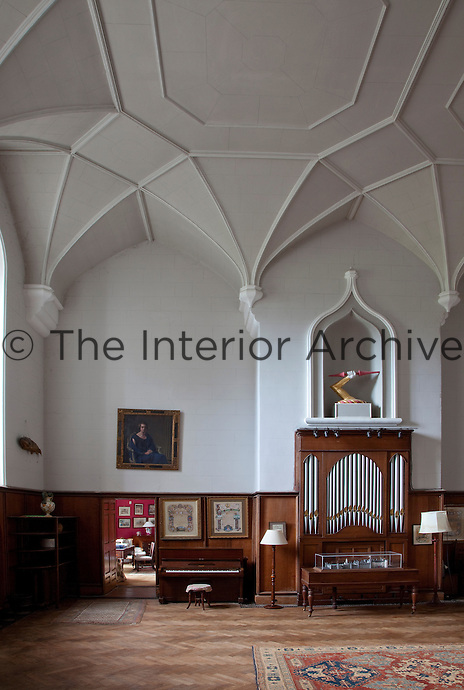 The cavernous gothic hall with its vaulted ceiling was added to the property by architect Francis Johnson in 1801