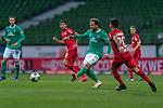 Philipp Bargfrede (Werder Bremen #44)<br /> Charles Aránguiz (Leverkusen #20), <br /> <br /> Sport: Fussball: 1. Bundesliga: Saison 19/20: <br /> 26. Spieltag: SV Werder Bremen vs Bayer 04 Leverkusen, 18.05.2020<br /> <br /> Foto ©  gumzmedia / Nordphoto / Andreas Gumz / POOL <br /> <br /> Nur für journalistische Zwecke! Only for editorial use!<br />  DFL regulations prohibit any use of photographs as image sequences and/or quasi-video.