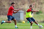 Getafe CF's Bruno Gonzalez (l) and Medhi Lacen during training session. August 1,2017.(ALTERPHOTOS/Acero)